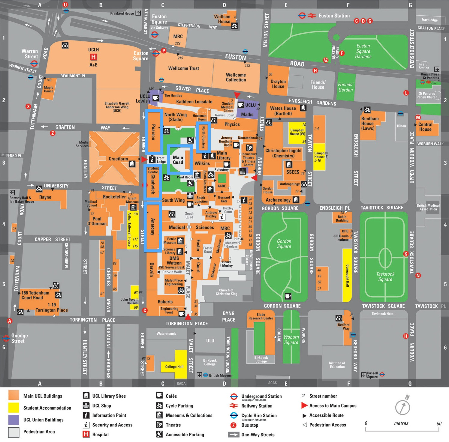 UCL Campus Map